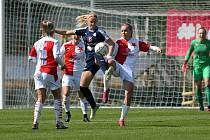 Fotbalistky Slovácka na úvod nadstavbové části skupiny o titul podlehly favorizované Slavii 0:2.