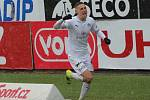 Mladý záložník Slovácka Michal Kohút v nedělním zápase s Ostravou zvyšoval na 2:0.