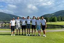 Hráči Golf clubu Uherské Hradiště dosáhli na hřišti New Course v Čeladné historicky nejlepšího umístění ve druhé lize mužů. Foto: archiv klubu