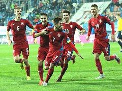 Kvalifikace ME U21: ČR – Černá Hora. Radost Čechů po gólu na 2:0
