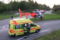 Dopravní nehoda u Buchlovic.