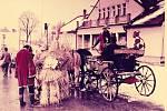 Fašank v Korytné. Historické foto.