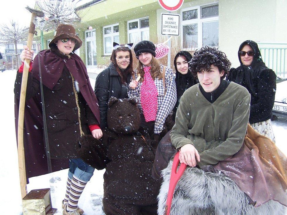 Fašank na Základní škole Červená cesta v Kunovicích.
