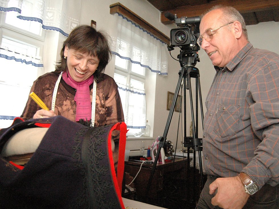 Režisér Rudolf Chodba natáčel v kunovickém domku č. 679 v ulici Záhumní.