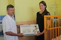 Dětské oddělení Uherskohradišťské nemocnice má k dispozici pětici nových monitorů dechu.