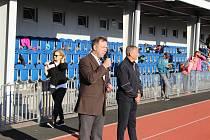 Uvítání sportovců starostou Uherského Hradiště Stanislavem Blahou