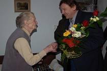 Jozefína Janovská je první stoletou obyvatelkou Strání.