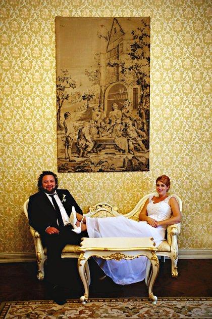 Soutěžní svatební pár číslo 93 - Andrea a Tomáš Kundrátovi, Rapotín