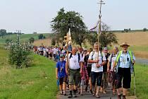 Desítky kilometrů měli za sebou věřící poutníci, kteří dorazili v sobotu dopoledne do poutního Velehradu.