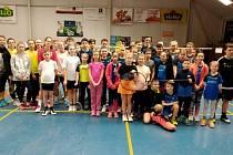 Turnaje vKunovicích se zúčastnilo 48 mladých badmintonistů.