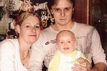 Barborka Volfová s rodiči.