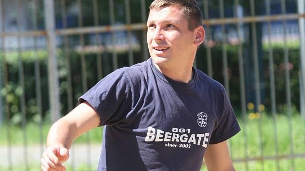 Roman Hašana turnaji v plážovém fotbale v Uherském Hradišti.