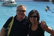 Karel Baroň se svojí manželkou Nelly na dovolené.