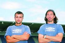 Vít Valenta a Aleš Urbánek byli včera prvními novými tvářemi, které se připojily k tréninku Slovácka.
