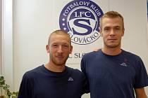 Fotbalisté 1. FC Slovácko zahájili přípravu na novou sezonu. Na tréninku se hlásily i dvě nové tváře – zleva Jan Martykán a Stanislav Hofmann.