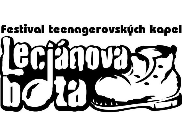Logo festivalu Leciánova bota.