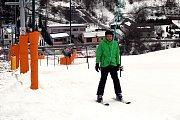 Lyžařské středisko Stupava (350-450 m. n.m.) První lyžování.