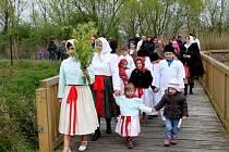 V Huštěnovicích se rozloučili s Marenou a žili blížícími se Velikonocemi.