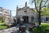 Kaple svatého Šebestiána na Palackého náměstí v Uherském Hradišti v těchto dnech prochází stavebními úpravami.