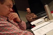 Režisér Petr Zelenka se v Uherském Hradišti zúčastnil čtené zkoušky své kontroverzní hry.