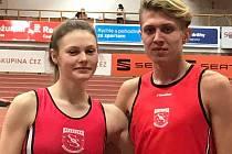 Atleti z Uherského Hradiště Tomáš Habarta a Karolína Mitanová se představili v pražské Stromovce.