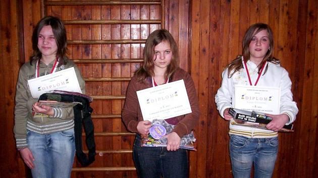 Nejlepší trio v kategorii dívek 13–14 let.