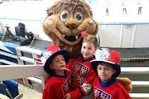 Sedmiletá dvojčata Viktor s Patrikem i o rok starší Honza hrají hokej za Uherské Hradiště.