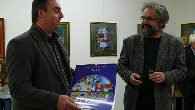 Kalendář Slovácký rok pokřtil starosta Vlčnova Jan Pijáček.