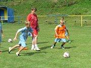 Už šestému ročníku fotbalového kempu patřil v Horním Němčí v penzionu Boďa začátek letošních prázdnin.
