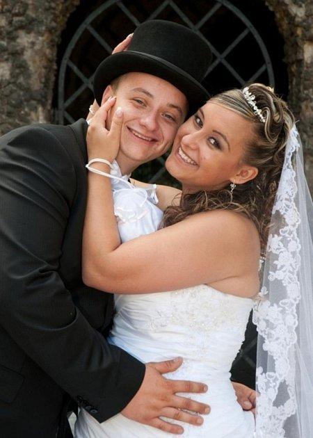 Soutěžní svatební pár číslo 138 - Monika a Petr Slívovi, Kroměříž.