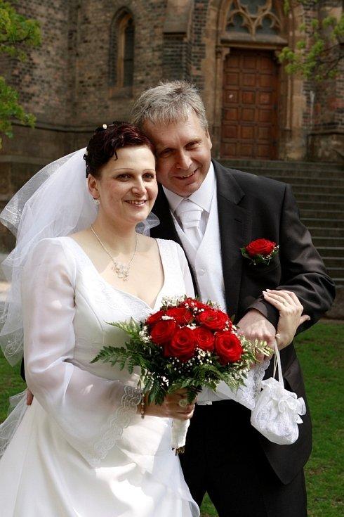 Soutěžní svatební pár 86 - Dagmar a Ivo Švrčkovi, Březolupy.