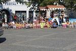 Masarykovo náměstí v Hradišti zaplnilo šest stovek dětí. Ze škol je vylákal Evropský Den bez aut