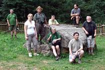Členové expedice u Králova stolu.