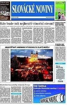 Titulní strana Slováckých novin