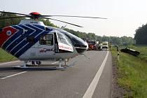 U Březolup se ve čtvrtek 26. května střetl osobní vůz s dodávkou.