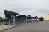 Dosavadní autobusové nádraží v Uherském Brodě.