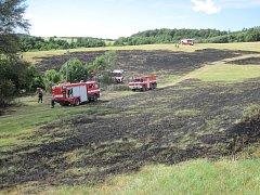 U Kudlovic v pátek 30. června vzplanulo nedaleké pole
