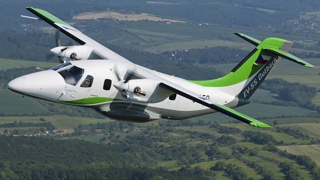 Nový letoun kunovické společnosti EVEKTOR je určen pro přepravu až čtrnácti pasažérů.