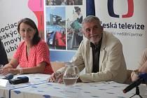 Letní filmová škola, 2021. ředitelka festivalu Radana Korená a herec Martin Huba