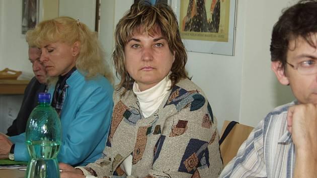 Teodorička Gotovska-Hanze z Bulharska (uprostřed) na mezinárodní konferenci v Uh. Hradišti.
