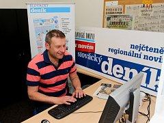 Svatopluk Habanec v redakci Slováckého deníku odpovídá na dotazy čtenářů.