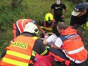 Dvě zraněné osoby si vyžádala srážka osobních vozidel nedaleko motorestu Samota v Chřibech. K nehodě došlo v neděli 6. srpna po 14. hodině,