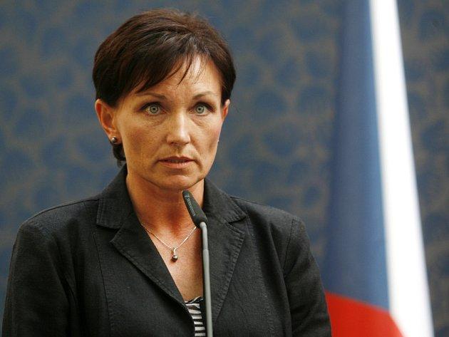 Ministryně zdravotnictví Dana Jurásková.