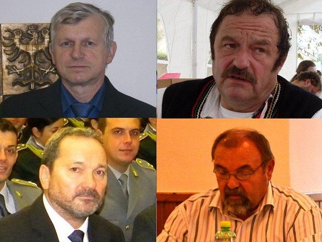 Zleva nahoře: Antonín Dulínek, Josef Kubáník. Zleva dole: Stanislav Gregůrek, Jan Šimčík.