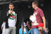 V pondělí 22. června zodpovídal dotazy moderátora ve fanzóně v Uherském Hradišti hráč 1. FC Slovácko Luboš Kalouda.