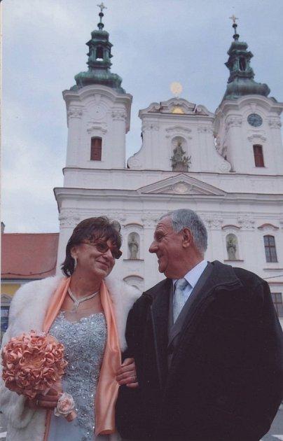 Soutěžní svatební pár číslo 122 - Marie a Josef Kubelovi, Uherské Hradiště