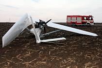 Tragická havárie letadla u Dolního Němčí