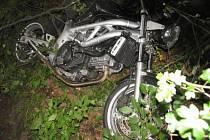 Další ze série nehod motocyklů v buchlovských horách na Uherskohradišťsku má na svědomí sedmadvacetiletý motorkář.