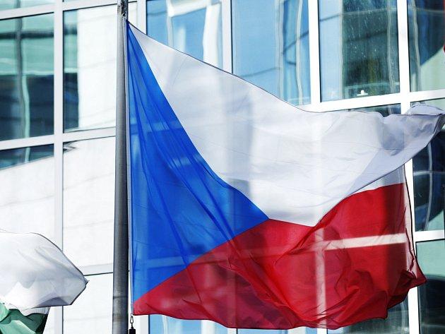 Vlajka České republiky. Ilustrační foto.