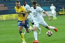1. FC Slovácko vs. FK Teplice. Zleva Michal Jeřábek a Jaroslav Diviš.